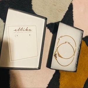 Ettika hoops star earring